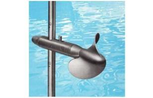 Hydrometer reel, speed sensor for watercourses
