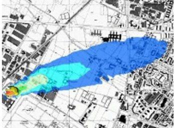Simulazione dispersioni odori